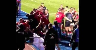 Munster et Saracens en viennent aux mains après une insulte sur Jamie George [Vidéo]