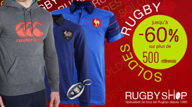 Notre sélection de produits rugby pour les soldes