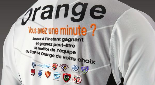 Gagnez un maillot de Top 14 avec Orange