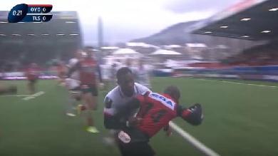 VIDÉO. Oyonnax marque un essai au Stade Toulousain après seulement 22 secondes de jeu