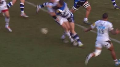 VIDEO. Premiership - Bath. Sam Burgess découpe Ben Jacobs deux fois en l'espace de 20 secondes
