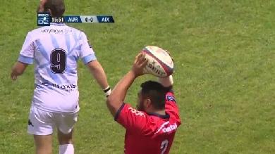 VIDEO. Pro D2 : Du lancer jusqu'à l'essai, Manu Leiataua fait tout le boulot pour Aurillac