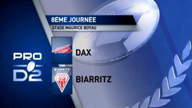 GIF. Pro D2 - Dax : la percussion de l'espace d'Apisai Naqalevu face au Biarritz Olympique