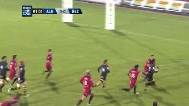 VIDEO. Pro D2 - L'exploit personnel de Loic Le Gal pour le superbe essai d'Albi face à Béziers