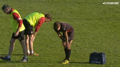 VIDÉO. Pro D2. Jérémy Gondrand cherche ses dents sur la pelouse après un vilain coup d'épaule