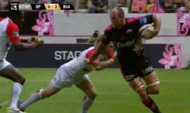 VIDEO. Antoine Burban se prend pour un ailier et dépose Pietersen et Ngwenya
