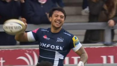 VIDEO. Premiership - Sale : les highlights de Denny Solomona, ancien treiziste et nouvelle sensation du rugby anglais