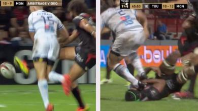 VIDÉO. TOP 14. Stade Toulousain - MHR : Yoann Huget et Bismarck du Plessis auteurs de mauvais gestes ?