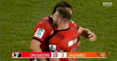 Super Rugby - 10e titre pour les Crusaders après leur victoire sur les Jaguares en finale [VIDÉO]