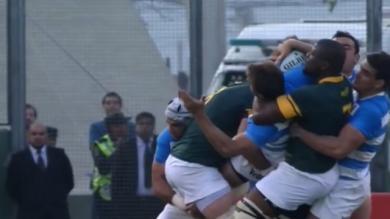 VIDEO. Rugby Championship. Teboho Mohoje tente de battre le record du monde de plaquages hauts