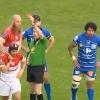 VIDEO. Pro D2. Le vilain coup de genou du Colum�rin Gr�goire Maurino qui fait d�g�n�rer le match contre Biarritz