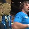 VIDEO. L'hommage du public � Mauro Bergamasco pour sa 5e Coupe du monde