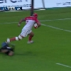 VID�O. Pro D2. Le talonneur de Biarritz Elvis Levi s'amuse dans la d�fense de Provence Rugby avec un tripl�