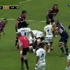VIDEO. Top 14 - Stade Toulousain. Accident ou geste volontaire, Yoann Huget �chappe de peu � une citation face � l'UBB