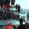Folie � Toulon pour f�ter le retour des champions d'Europe