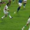 RESUME VIDEO. Italie - Kelly Haimona offre l'essai � Sergio Parisse face aux Samoa avec une tr�s belle passe au pied