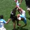 VIDEO. Cape Town 7s : Isaac Te Tamaki retourne son adversaire avec un plaquage violent