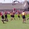 VIDEO. INSOLITE. Le XV d'Angleterre pr�pare sa Coupe du monde... en jouant au Football Am�ricain