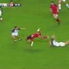 VIDEO. Coupe du monde de rugby f�minin. Marjorie Mayans et Sandrine Agricole distribuent les caramels face au Canada