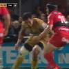 VID�O. Oyonnax - Toulon : Maurie Fa'asavalu d�coupe Matt Giteau et prend un carton jaune