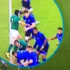 VIDEO. Coupe du monde. Irlande - France. Sean O'Brien s�che Pascal Pap� avec un coup de poing