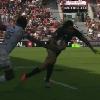 VID�O. Stade Toulousain - MHR : Yoann Huget brise les reins de Benjamin Fall pour aller marquer