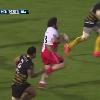 VIDEO. Pro D2. Le pilier du BO St�phane Cl�ment encha�ne jeu au pied et offload face au Stade Montois