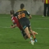 VIDEO. Super Rugby - Anton Leinert-Brown �chappe au carton malgr� une grosse manchette sur Andy Ellis
