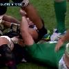 VID�O. Irlande - G�orgie : Viktor Kolelishvili colle son crampon dans l'oeil de Dominic Ryan