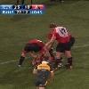 VIDEO. Willie Wepener prend le ballon pleine poire mais reste lucide pour marquer un essai