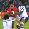 VIDEO. France - Tonga : Vungakoto�Lilo pose Yannick Forestier sur le cul