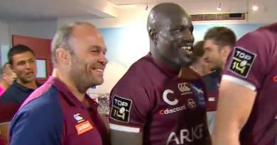 [VIDEO] Pas douchés, les joueurs de l'UBB fêtent la victoire au milieu des supporters !