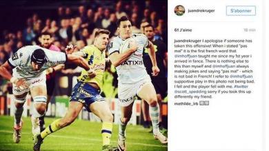 TOP 14. ASM - Racing : Le tweet maladroit de Juandre Kruger créé la polémique sur les réseaux sociaux