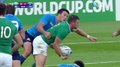 RÉSUMÉ VIDÉO. Une Irlande poussive décroche sa qualification contre l'Italie (16-9)