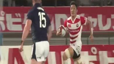 VIDÉO. Le magnifique essai collectif du Japon contre l'Écosse