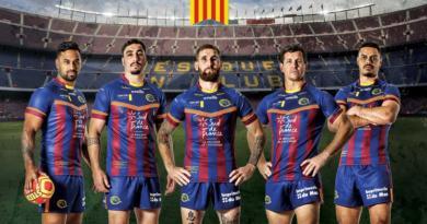 XIII : les Dragons Catalans dévoilent un maillot collector aux couleurs du... Barça !