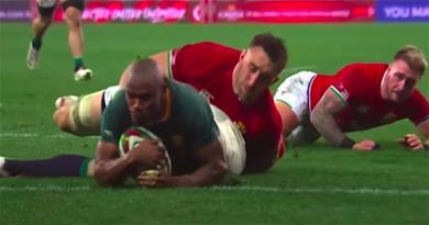 VIDEO - Grâce au 15ème essai de Mapimpi en 16 sélections, les Boks font tomber les Lions et relancent la série