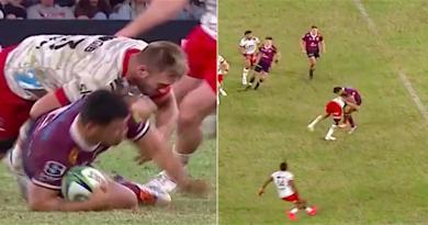 Super Rugby. VIDEO. Braydon Ennor fait roter Hunter Paisami d'un plaquage désintégrant !